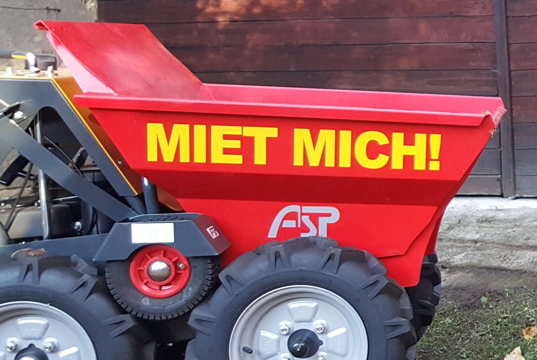 Miet-MICH! - Motorschubkarre