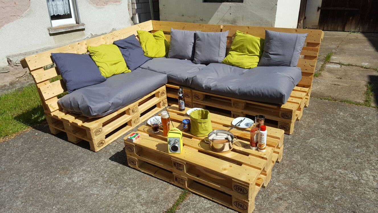 Gartenmöbel aus EURO-Paletten